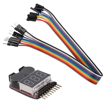 RC Lipo батарея низкого напряжения сигнализации 1 S-S 8 S зуммер Индикатор проверки тестер светодио дный LED