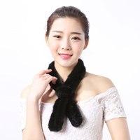 Harssidanzar Collare Reale Della Pelliccia delle Donne di Lusso di Alta Qualità Natural Mink Fur Sciarpe