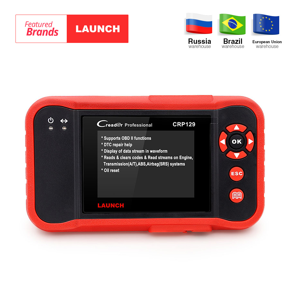 Launch Creader CRP129 Professional obd2 EOBD Diagnostic Scanner ENG/AT/ABS/SRS + EPB SAS Oil reset CRP 129 Auto Code Reader tool obd2 scanner launch creader 8001 car code reader full obdii eobd auto diagnostic scanner tool with abs srs epb oil service