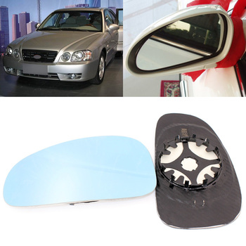 For KIA Optima 2005-2011 Side View Door Mirror Blue Glass With Base Heated 1 Pair