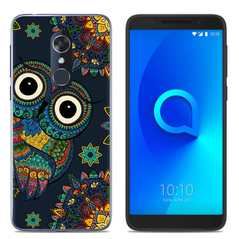 New Arrival Phone Case For Alcatel 1C / 1X / 3 / 3C / 3V / 3X Fashion Design Art Painted TPU Soft Case Silicone Cover