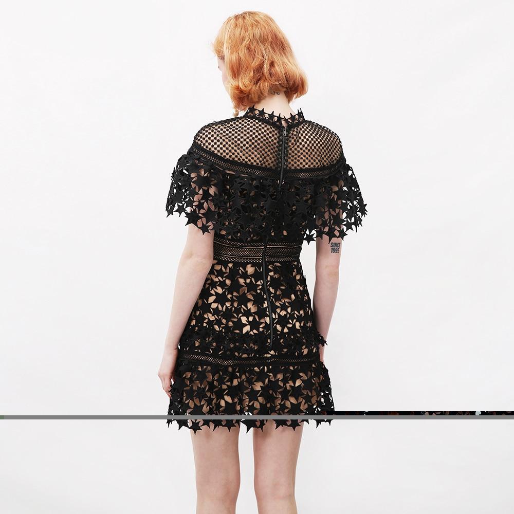 Femmes Robuste Haut Sundleness Robe Creux Dentelle Étoiles Mode De Marque Luxe Gamme nHWppx