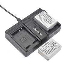 DuraPro 2Pcs NB-10L NB10L Li-ion Battery + USB Twin Channel Charger for Canon G1X G15 G16 SX40HS SX50HS SX60HS SX40 SX50 SX60