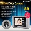 IR Infrared Campainha Da Porta de Vídeo Olho Mágico Da Câmera Visor Da Porta Digital Com USB + TF cartão