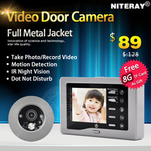 IR Infrared Video Peephole Camera Door Bell Digital Door Viewer With USB + TF card