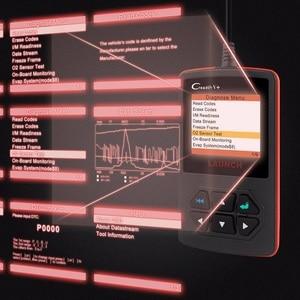 Image 2 - Launch X431 Creader V+OBD OBD2 skaner samochodowy, czytnik kodów błędu, wielojęzyczne menu, narzędzie diagnostyczne auta, auto skanowanie