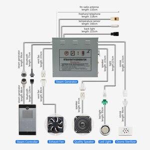 Image 3 - 240V 6KW Dusche Temperatur Sensor Display Dampf Sauna Generator Spa LCD Touch Bluetooth Dampf Controller Dampf Düse Outlet