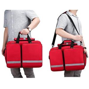 Image 5 - Outdoor First Aid Kit Refrigeratible Sports Red Nylon Waterproof Cross Messenger Bag Family Travel Emergency Bag DJJB026