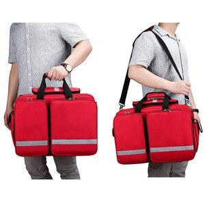 Image 5 - Outdoor Kit di Primo Soccorso Refrigeratible Sport Red Nylon Impermeabile Croce Messenger Bag di Viaggio di Famiglia Sacchetto Di Emergenza DJJB026