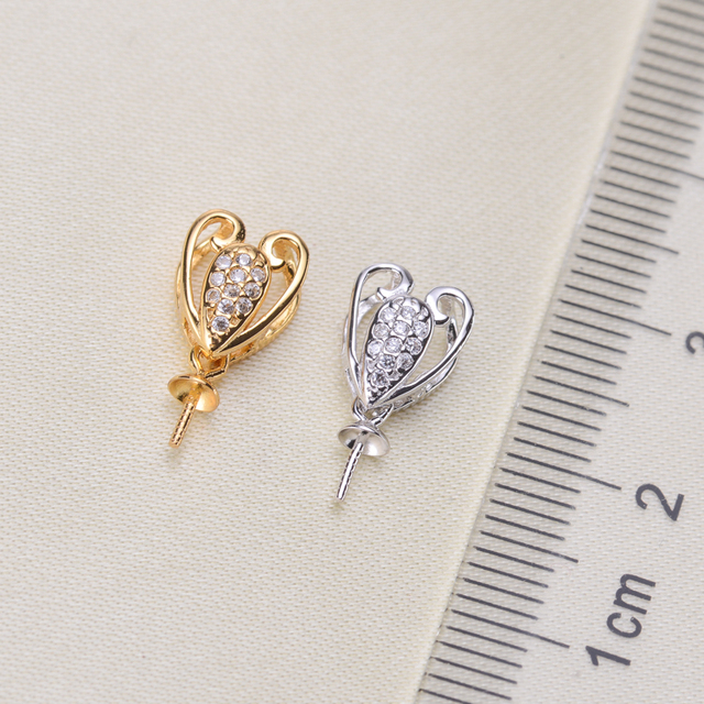 Beautiful New Exquisite Pearl Pendant Mountings, Pendant Findings, Pendant Settings Jewelry Parts Fittings Women Accessories