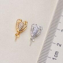 Belles nouvelles montures de pendentif en perles exquises, résultats de pendentif, paramètres de pendentif pièces de bijoux accessoires pour femmes