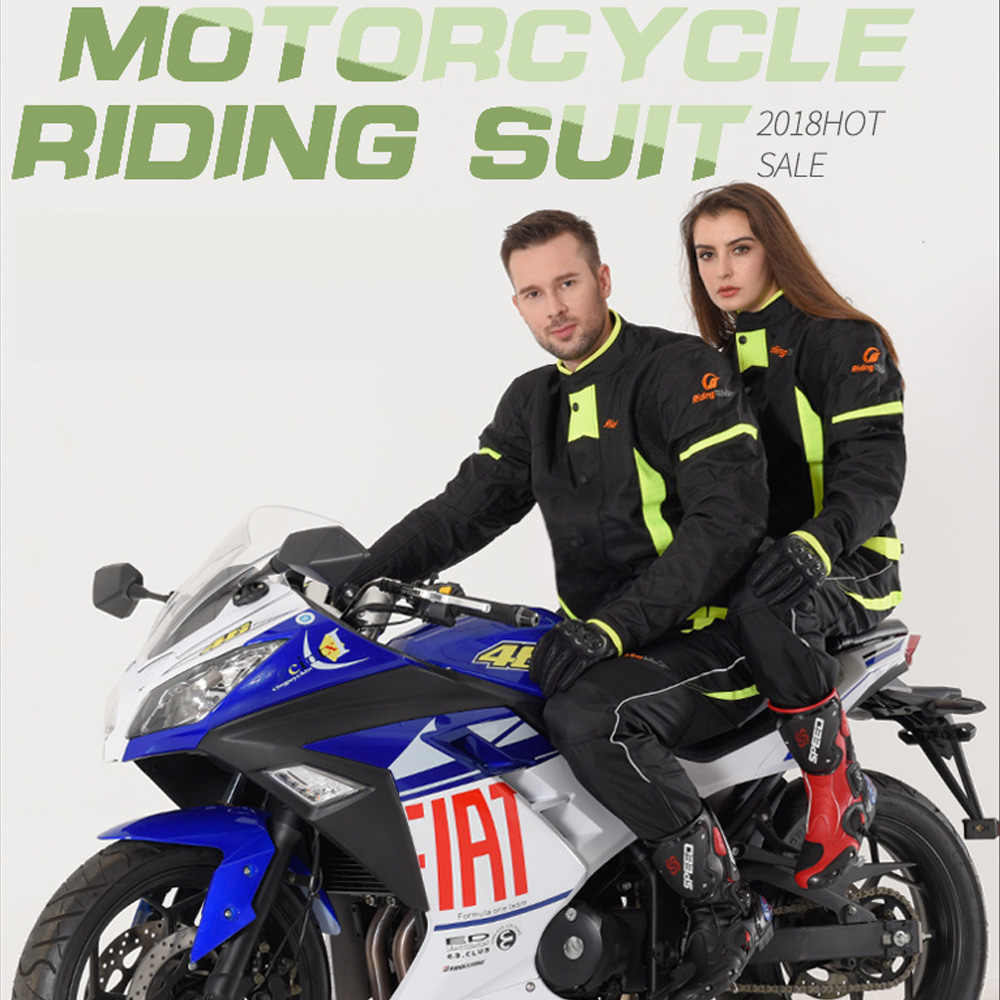 Winter Motorcycle Warm Jacket Waterproof Motocross Racing Clothes With  Protective Armor Motorcyclist Clothing JK-37