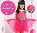 Nova 1 pcs roupas das Crianças 2016 do bebê meninas dançando vestido de roupas crianças vestido de princesa camisa crianças tutu crianças vestir