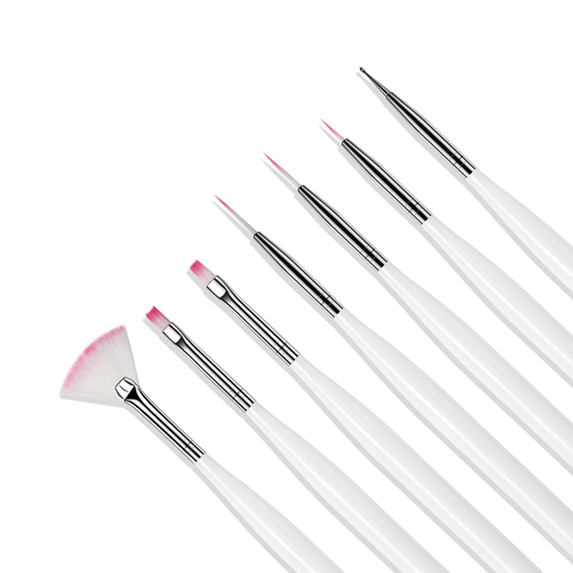 ROHWXY 12PCS Manicure Set Pencel Dotting Painting Design Acrylic Nail Art Brush For Manicure Decoration A Set of brushes 2