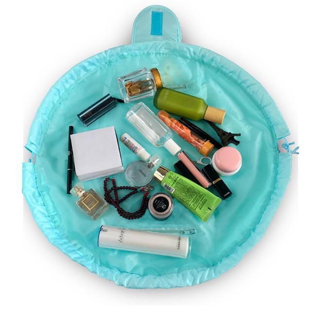 Women Drawstring Cosmetic Bag Fashion Travel Makeup Bag Organizer Make Up Case