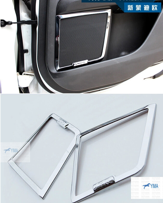 Chrome Side Door Audio Speaker Cover Trim 4 Pcs For Ford Mondeo 2014 2015 / Fusion 2014 2015 for ford fusion mondeo 2013 2014 2015 control glass water panel protective film stickers carbon cover