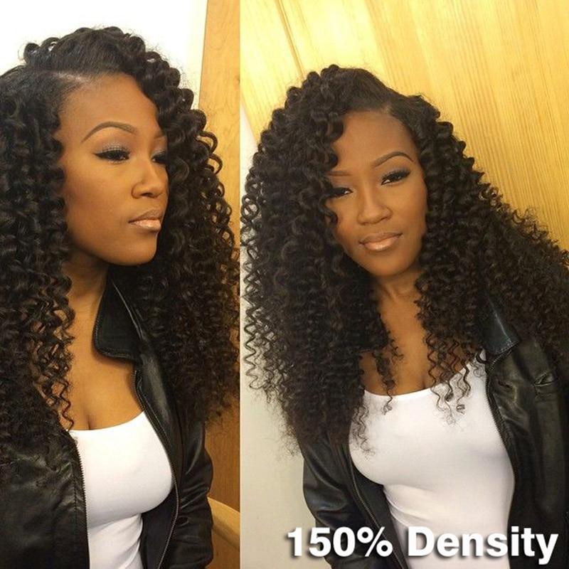 Full Lace Human Hair Wigs 150% Heavy Density Lace Front Wigs Indian Kinky Curly Lace Front Human Hair Wigs For Black Women