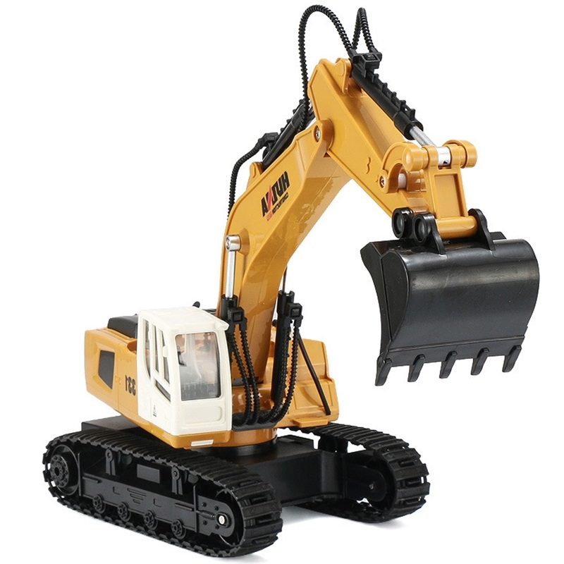 9 Channel RC Truck Excavator Alloy Backhoes Bulldozer Remote Control Digger Engineering Vehicle Model Electronic Kids Hobby Toy9 Channel RC Truck Excavator Alloy Backhoes Bulldozer Remote Control Digger Engineering Vehicle Model Electronic Kids Hobby Toy