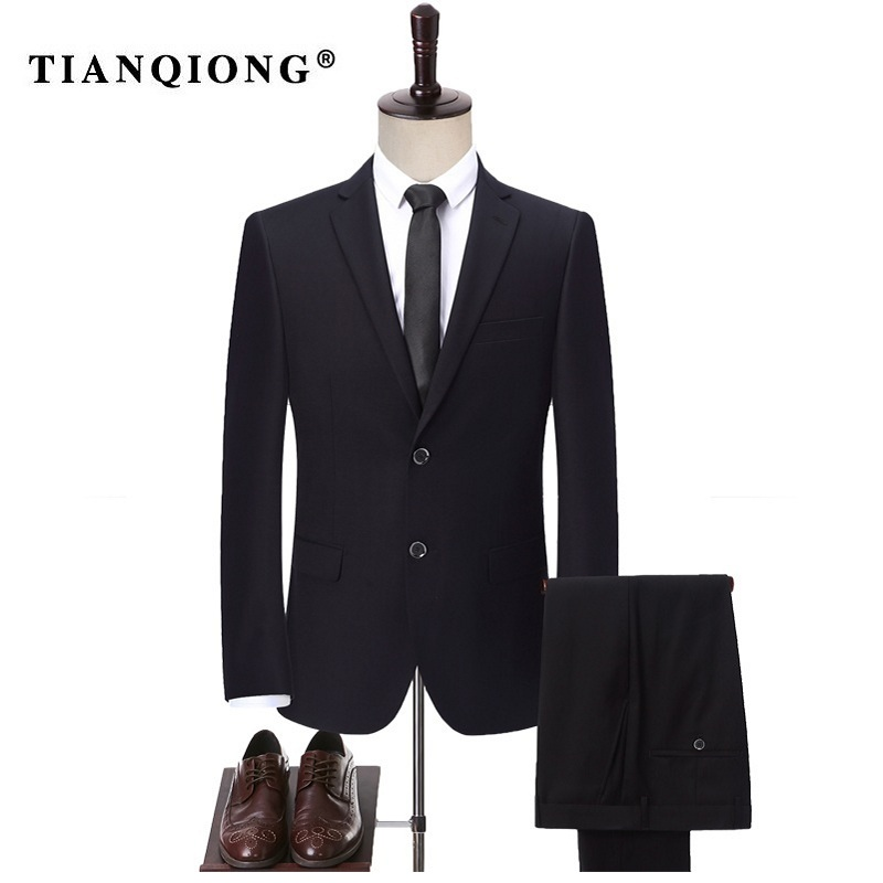 TIAN QIONG Black Men's Tailor Made Suits