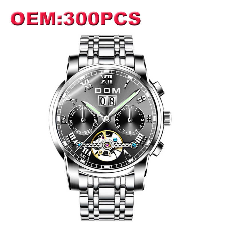 d99c6172ea5 Detail Feedback Questions about DOM Customized Your Own Brand Watch Unique  Full Steel Causal Mechanical Men Watches High Quality Waterproof Watch for  Men M ...