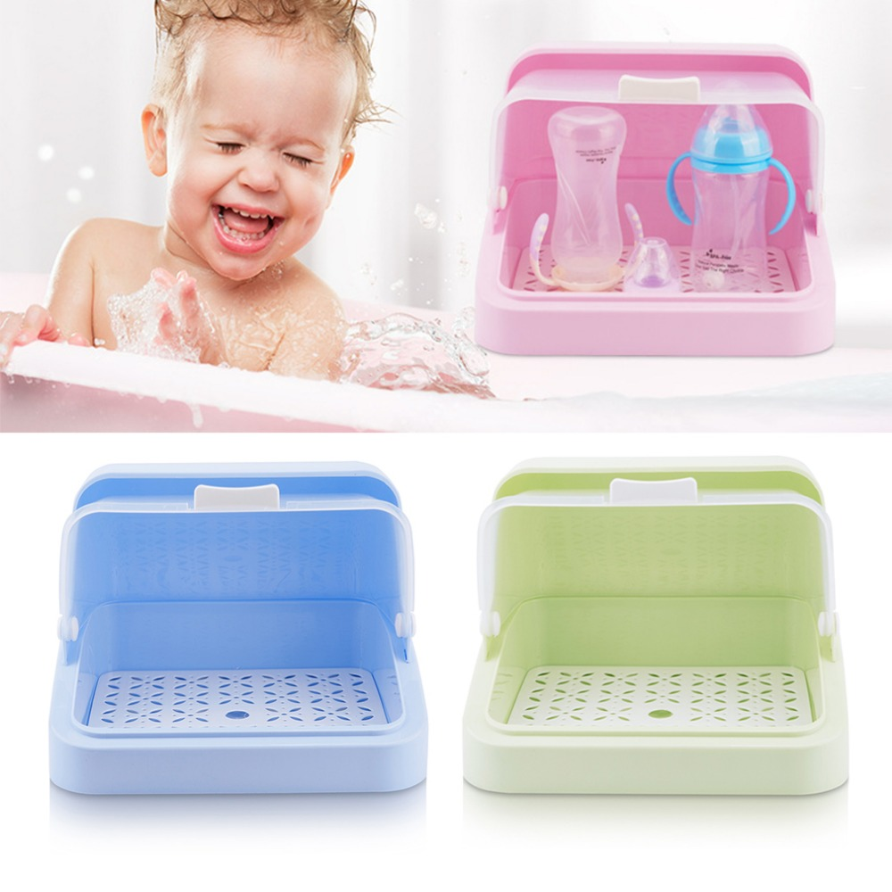 1pc Kitchen Multifunctional Plastic Storage Box Container For Baby Milk Bottle clamshell Organizer Dish bottle cups bowls Rack