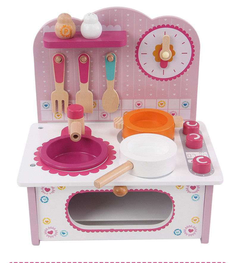 Toy Kid Cooking Set Wooden Play Kitchen