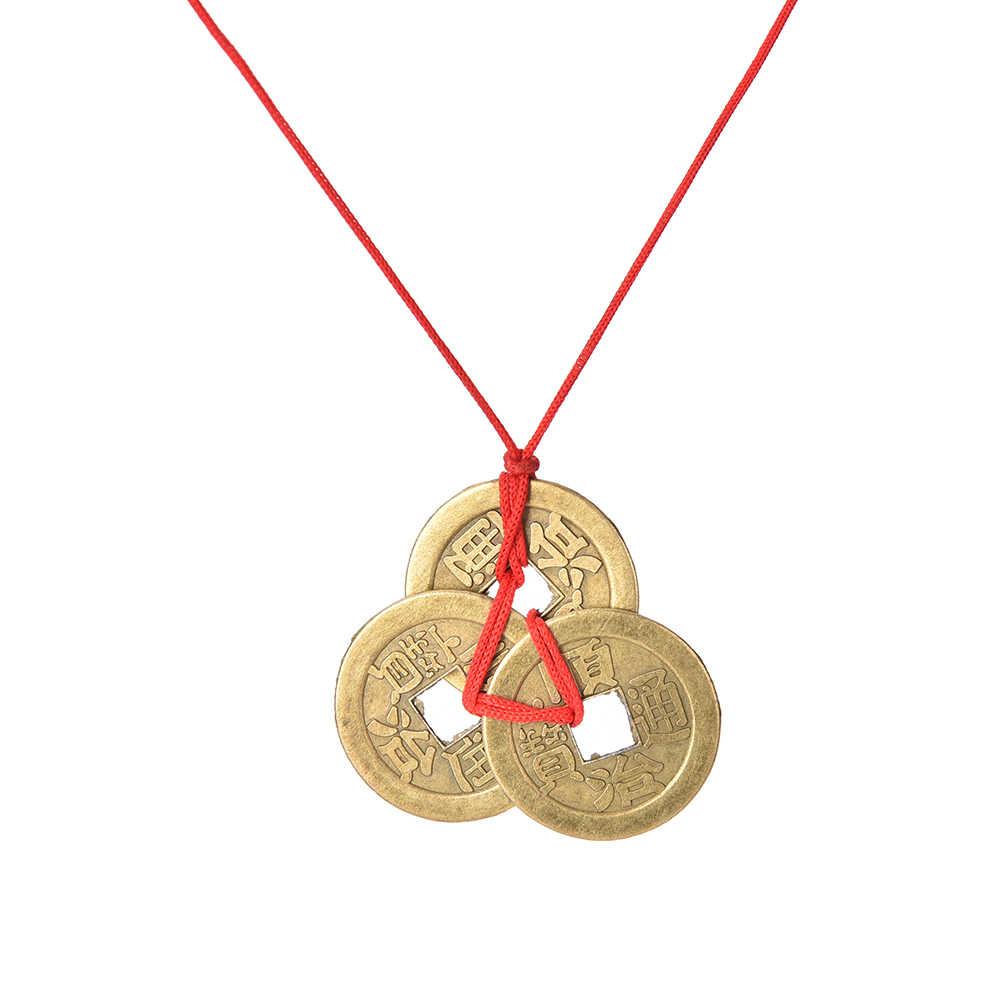 3 teile/satz Glück Kupfer Chinesische Münzen Original Chinesische Feng Shui Münzen Für Reichtum Und Erfolg