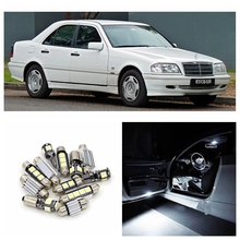 20pcs Canbus Car White LED Light Bulbs Interior Package Kit For 1993-1999 Mercedes Benz C-Class W202 Map Dome Trunk Door Lamp