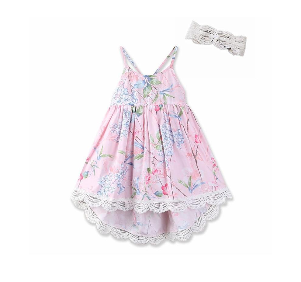 8ab099bff Bebé niñas vestido de verano de marca de playa con estampado Floral ...