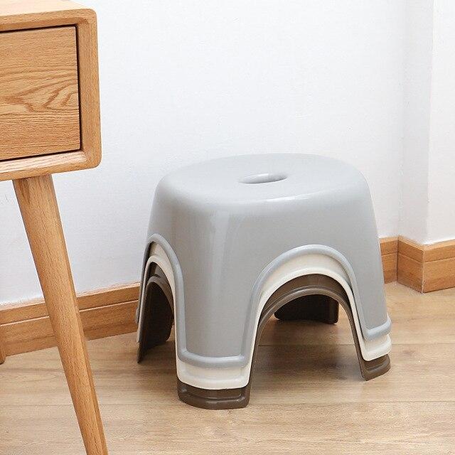 Домашний маленький скамья нескользящий журнальный столик табурет пластиковый простой табурет для взрослых утолщение детский табурет для обуви табурет