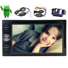 Android 6.0 doble 2DIN GPS del coche reproductor de DVD en el tablero de navegación vehículo Radios headunit soporte 1080 p vídeo WiFi Bluetooth obd2 + cam