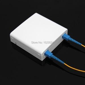 Image 4 - Panel de enchufe de fibra óptica SC FTTH, panel terminal de fibra óptica, caja de conexiones, tipo 86, 10 unids/lote