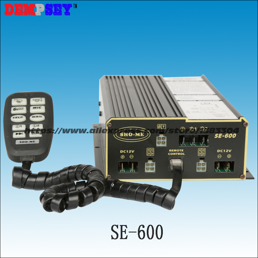 SE-600 Police Alarm ,Fire/clear The Way/rescue DC12V 600w Siren, 10 Tones, With Microphone, 2 Light Switches,without Speaker