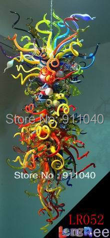 Fashion Multi Color Clear Glass Chandelier Modern for Party Decoration