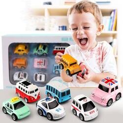 Сплав тянуть назад Автомобиль Моделирование мини-автомобиль игрушка набор для детей, играющих в Обучающие наборы классический школьный