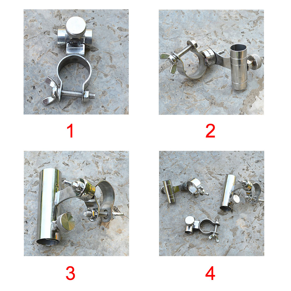 Anti-slip Fishing Rod Holder Marine Bracket Practical Clamp Stainless Steel Boat Outdoor Chair Mount Corrosion Resistance Clip