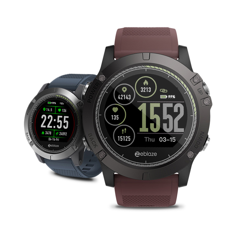 Zeblaze VIBE 3 HR 1.22 Inch IPS Color Display Smart Watch IP67 Waterproof Heart Rate Monitor Sports Smartwatch For Android & IOS g6 tactical smartwatch