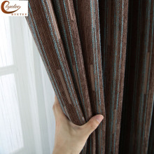 [byetee] Modern Jacquard Chenille Blackout Kitchen Door Curtains For Bedroom Living Room Windows Doors Striped Curtains Drapes
