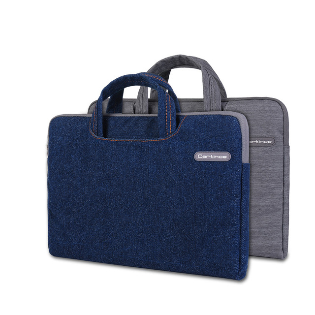 نتيجة بحث الصور عن ‪CARTINOE 11.6' Jean Series Laptop Sleeves - Gray and Blue‬‏