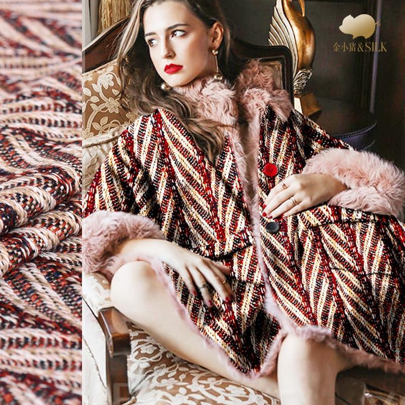 150 cm mode laine jacquard tissu teint en fil de mode manteau en laine tissu marque italienne mode laine tissu en gros tissu