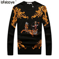 Hot selling 2016 new  arrival  high quality  Autumn sweater O-Neck Pullover Mens Sweaters Knitwear brand clothing