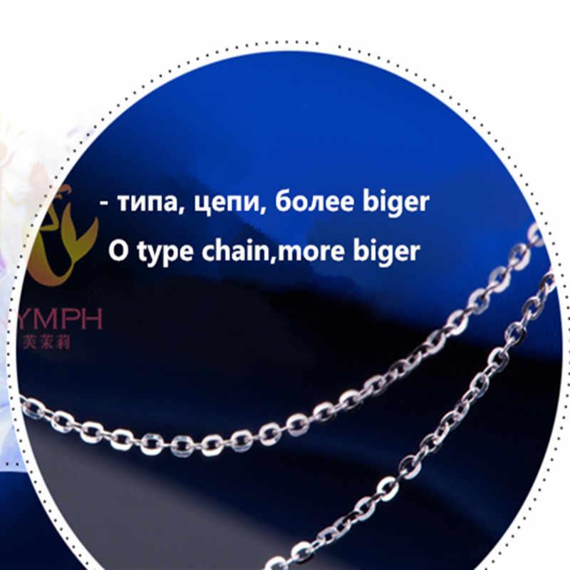 [NYMPH] Подлинная 18 K белая желтая цепь из розового золота цена продажи ожерелье из чистого золота лучший подарок для женщин [G1001]