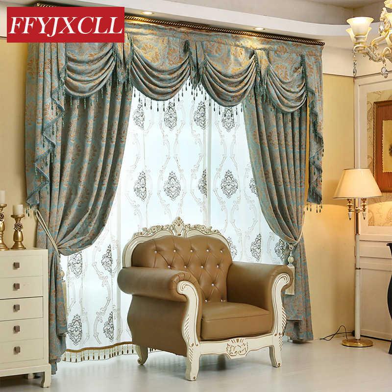 На заказ, роскошное Европейское украшение, жаккардовые шторы для гостиной, спальни, тюлевые занавески на окна, домашний декор