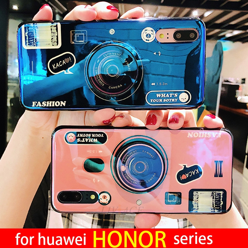 cute camera phone holder case for huawei honor 8x max note 10 9 lite 7x 7c 7a pro 7s 9i 9n v9 play view gt stand cover coque image