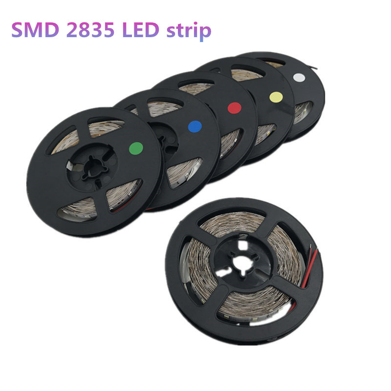 5M 300leds 2835SMD LED Strip High Brightness Nonwaterproof DC 12V 60leds/m Diode Tape Super Bright than 3528 LED Light Strip
