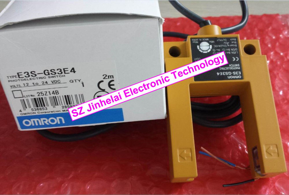 E3S-GS3E4 New and original OMRON Photoelectric switch 2M  12-24VDC [zob] new original omron omron photoelectric switch e3s at11 2m e3r 5e4 2m