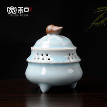 Width and creative Longquan incense burner ceramic coil oven 2 hours three hyacinth