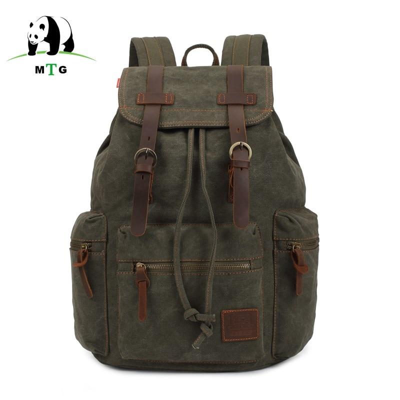 MTG Brand Man's Canvas Backpack Travel Schoolbag Male Backpack Men Large Capacity Rucksack Shoulder School Bag Mochila Escolar