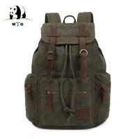 MTG Brand Man S Canvas Backpack Travel Schoolbag Male Backpack Men Large Capacity Rucksack Shoulder School