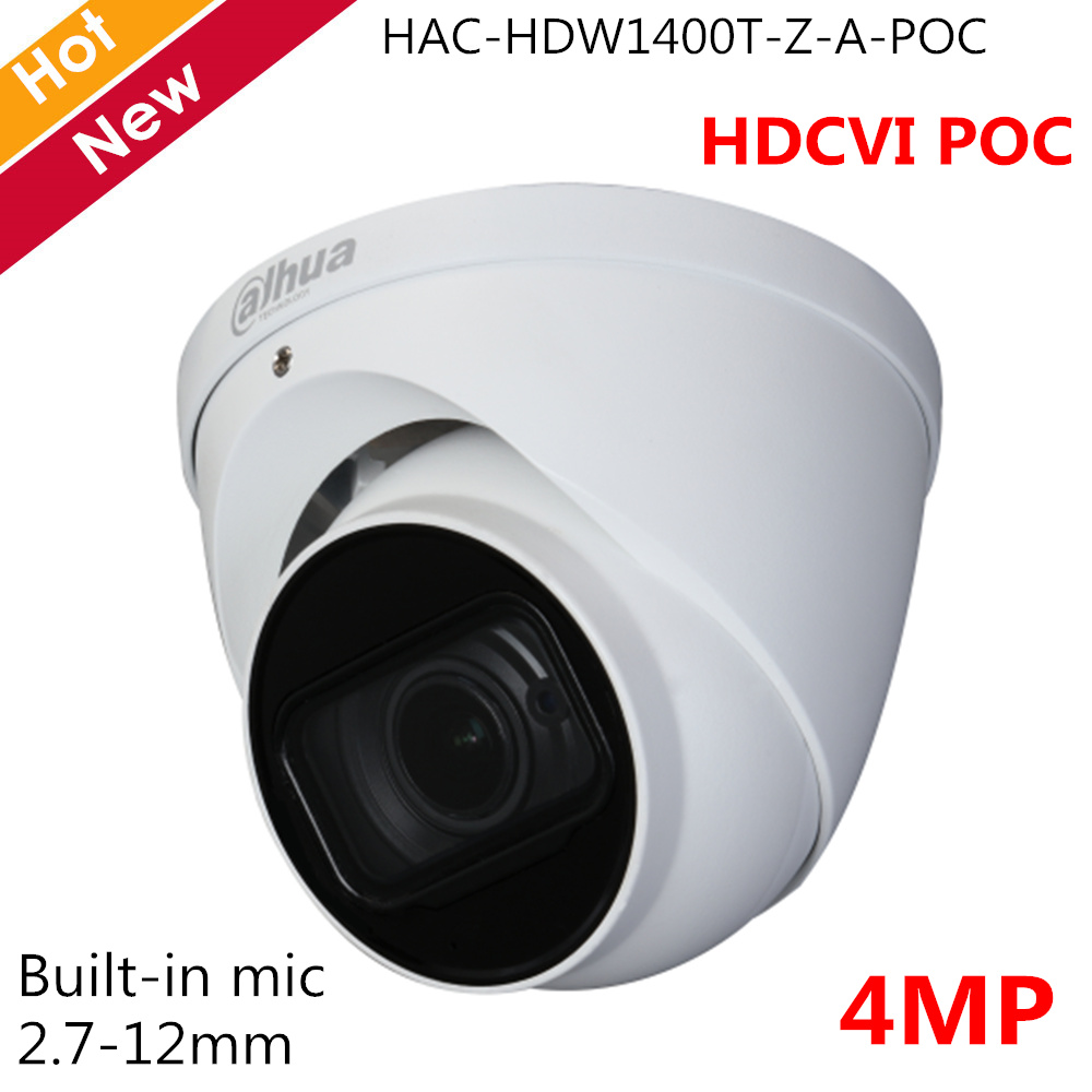Dahua 4MP HDCVI POC Camera 2.7-12mm Motorized lens Support POC and DC12V Smart IR 60m Eyeball Camera Security camera for cctvDahua 4MP HDCVI POC Camera 2.7-12mm Motorized lens Support POC and DC12V Smart IR 60m Eyeball Camera Security camera for cctv